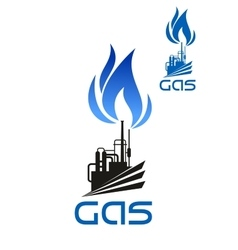 Natural gas industrial processing icon vector image vector image