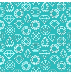 seamless pattern with diamonds vector image vector image