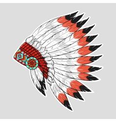 colorful of native American war bonnet Design for vector image