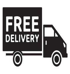 Delivery truck2 resize vector image vector image