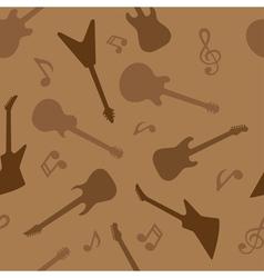 guitar seamless 3 vector image vector image