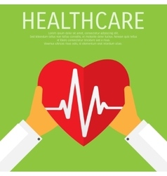 healthcare medical flat background vector image