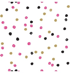 Seamless ink brush painted polka dot pattern vector image vector image