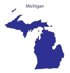 United States Michigan vector image vector image