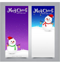 027 Merry Christmas banner Collection of greeting vector