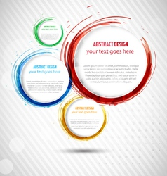 Abstract Curly Banner vector image