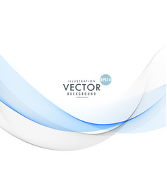 Abstract smooth gray and blue wave background vector