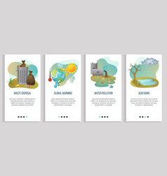 Acid rain and global warming ecology problems vector