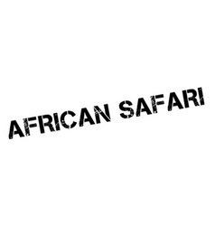African safari rubber stamp vector