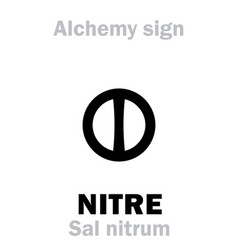 Alchemy nitre niter sal nitrum vector