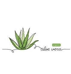 Aloe vera plant sketch simple vector