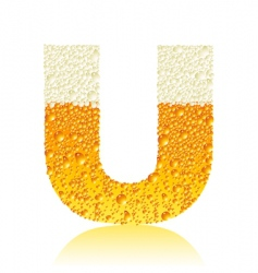alphabet beer u vector image