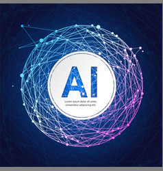artificial intelligence card poster background on vector image