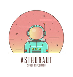 astronaut in a space suit spaceman logo design vector image