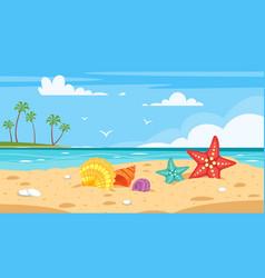 background of sea shore vector image