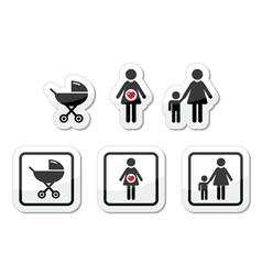 Baicons set - parm pregnancy mother vector