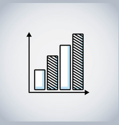 bars statistics line icon vector image