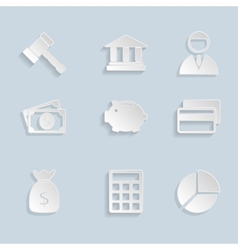 Business Paper Icons Set vector