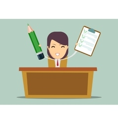 Business person working in office hour vector