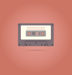 cassette flat style icon vector image