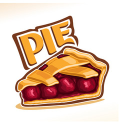 Cherry pie vector