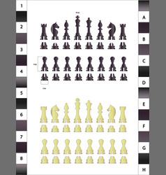 Chess set vector