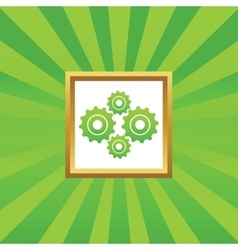 Cogs picture icon vector