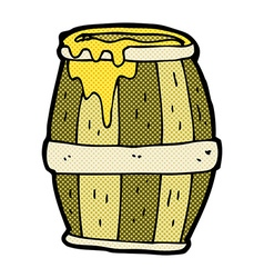 comic cartoon barrel vector image