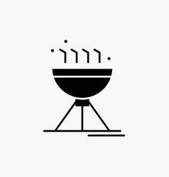 cooking bbq camping food grill glyph icon isolated vector image
