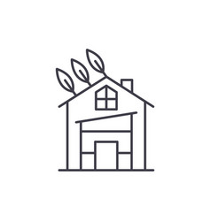eco house line icon concept eco house vector image