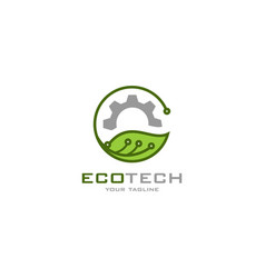 eco tech logo vector image