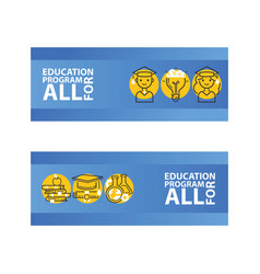 education set of banners vector image