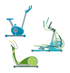 elliptical training apparatuses to keep physical vector image