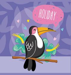 exotic birds cartoon vector image