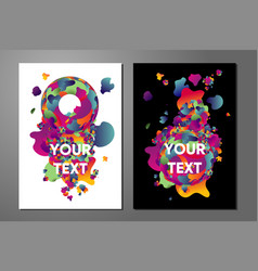 Experimental art poster templates with trendy vector