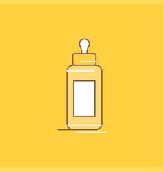 feeder bottle child baby milk flat line filled vector image