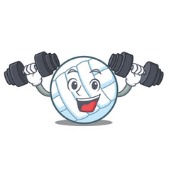 Fitness volley ball character cartoon vector