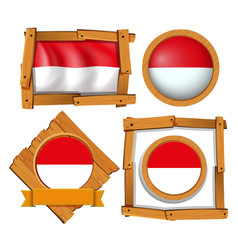 flag of indonesia in different frames vector image