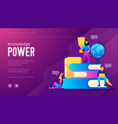 flat design style web banner for the power of vector image
