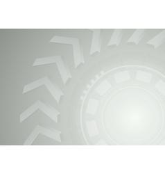 Futuristic tech gear with arrows design vector