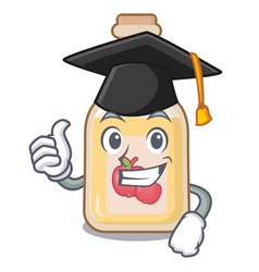 Graduation apple cider isolated with mascot vector