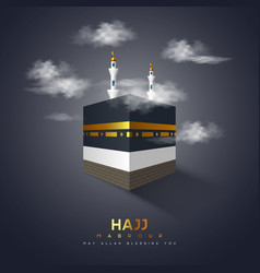 Hajj mabrour banner vector