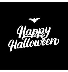 Happy Halloween hand written lettering card vector image