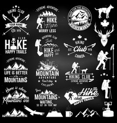 Hiking club badge vector