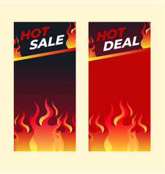 hot sale banner template special offer shopping vector image