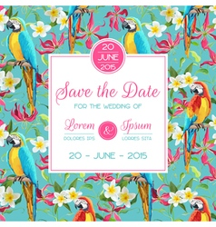 Invitation Congratulation Card - for Wedding vector image