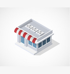 Isometric 3d icon shop vector