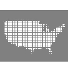 Map of United States made of squares vector