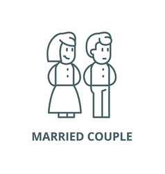 married couple line icon linear concept vector image