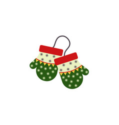 mittens color icon element of christmas and new vector image